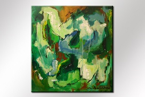 Paul Smidt abstract groen 90x80