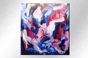 Paul Smidt abstract paars 90x80